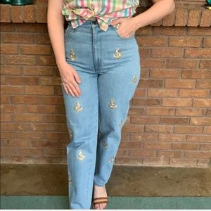 The LA Costa Spa Vintage High Waist Anchor Jeans